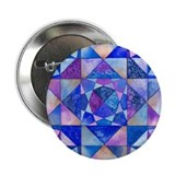 Blue Quilt Watercolor Button