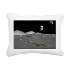 Lunar shuttle landing, artwork - Pillow