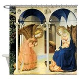 Fra Angelico The Annunciation Shower Curtain