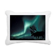 Aurora borealis and caribou - Pillow