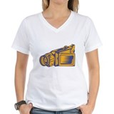 Video Camera Recorder Woodcut Shirt