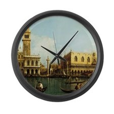 Canaletto The Pier Large Wall Clock