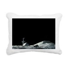 Artist's impression of a manned moon base - Pillow
