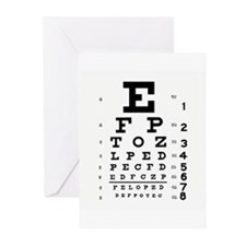 Eye Chart Greeting Cards (Pk of 10)