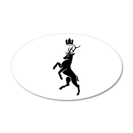 House Baratheon Stag 20x12 Oval Wall Decal