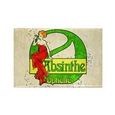 Red Dress Absinthe Ophelie Rectangle Magnet