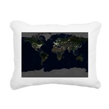 Whole Earth at night, satellite image - Pillow