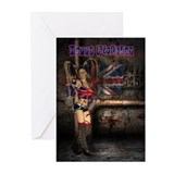 Union Jack Rock Female Greeting Cards (Pk of 10)