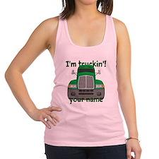 Personalized Im Truckin Racerback Tank Top