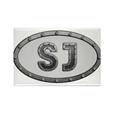 SJ Metal Rectangle Magnet