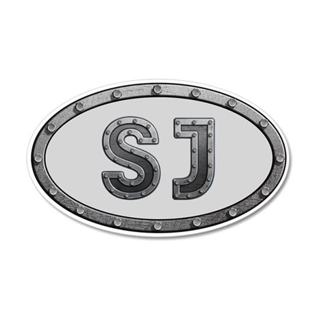 SJ Metal 35x21 Oval Wall Decal