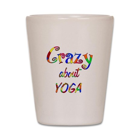 Crazy About Yoga Shot Glass