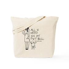 Cute Pitt bull Tote Bag
