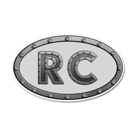 RC Metal 20x12 Oval Wall Decal