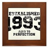 Established 1993 - Aged to perfection Framed Tile