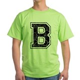 Letter B in black vintage look T-Shirt