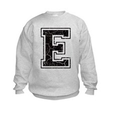 Letter E in black vintage look Sweatshirt