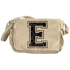 Letter E in black vintage look Messenger Bag