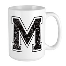Letter M in black vintage look Mug
