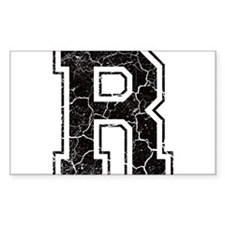 Letter R in black vintage look Decal