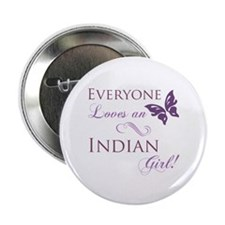 "Indian Girl 2.25"" Button"