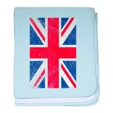 Union Jack - Flag of Great Britain baby blanket