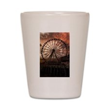 The Seattle Pier in Red Shot Glass