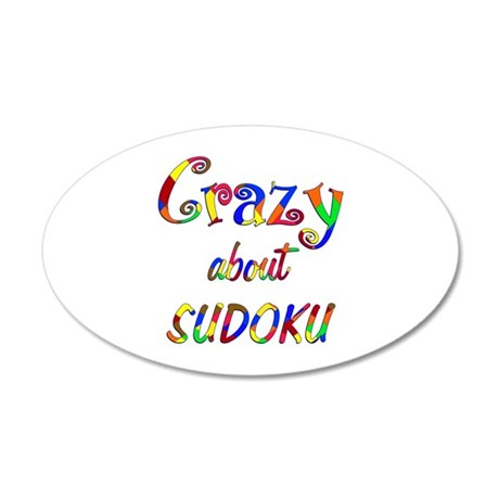 Crazy About Sudoku 20x12 Oval Wall Decal
