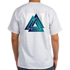 Blended Color Valknut Grey T-Shirt