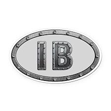IB Metal Oval Car Magnet