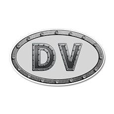 DV Metal 35x21 Oval Wall Decal