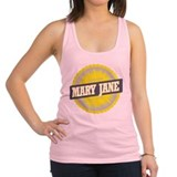 Mary Jane Ski Resort Colorado Yellow Racerback Tan