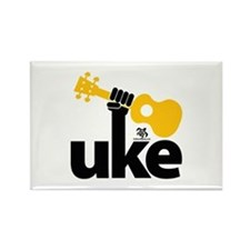 Uke Fist Rectangle Magnet