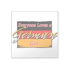 German Girl Rectangle Sticker