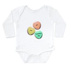 Babys 1st Valentines Day Long Sleeve Infant Bodysu