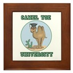 Camel Toe University Framed Tile