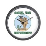 Camel Toe University Wall Clock