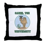 Camel Toe University Throw Pillow