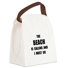 Beach Calling Canvas Lunch Bag