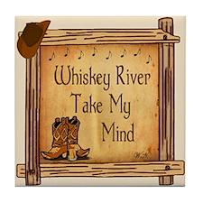 Whiskey River Ceramic Tile Coaster