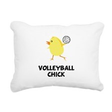 Volleyball Chick Black.png Rectangular Canvas Pill