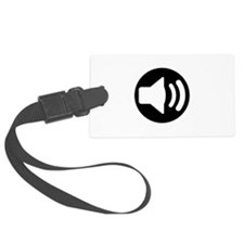 Audio Speaker Black.png Luggage Tag