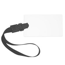 Music B Flat Black.png Luggage Tag