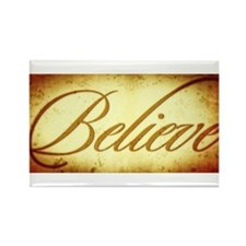 Believe vintage print Rectangle Magnet