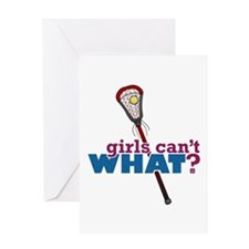 Lacrosse Stick Red Greeting Card