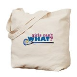 Lacrosse Stick in Blue Tote Bag