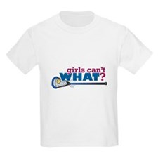 Lacrosse Stick in Blue T-Shirt