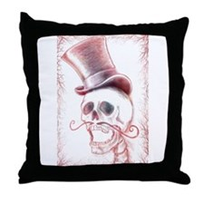 Dapper Dia De Los Muertos Throw Pillow