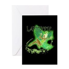 Dark Green Fairy Flying Greeting Card