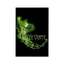 Dark Absinthe Fairy Flying Rectangle Magnet